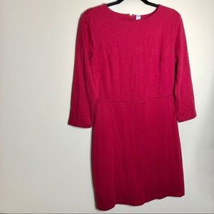 Old Navy Cranberry Three Quarter Sleeve Dress